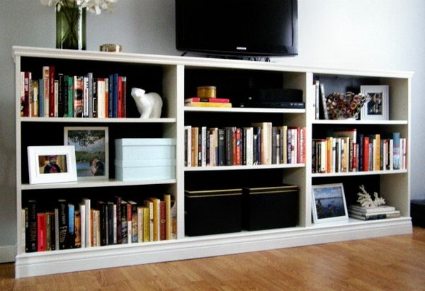 Brilliant Brand New TV Stands With Matching Bookcases Pertaining To 30 Genius Ikea Billy Hacks For Your Inspiration (View 24 of 50)