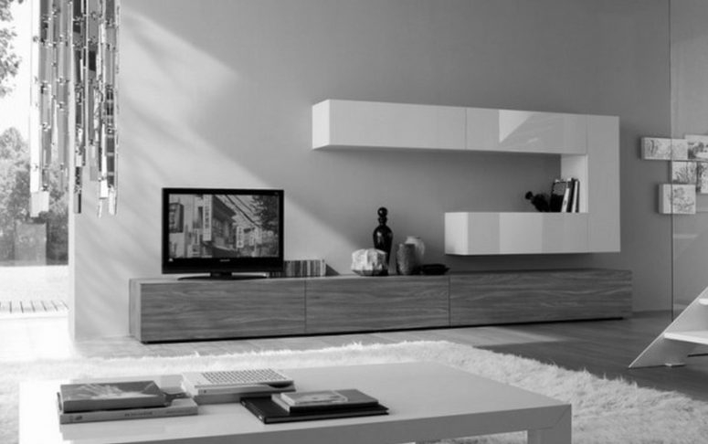Brilliant Brand New White Wall Mounted TV Stands Regarding Tv Stand Ideas For Wall Mounted Tv Safavieh Braided Multi Area Rug (Image 12 of 50)