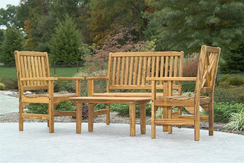 Brilliant Brand New Wooden Garden Coffee Tables Inside Amish Pine Wood English Garden Coffee Table (View 33 of 50)