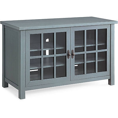 Brilliant Brand New Wooden TV Cabinets With Glass Doors In Tv Stand For Flat Screens Blue Media Console Square Wood Cabinet (Image 15 of 50)
