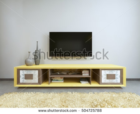 Brilliant Brand New Yellow TV Stands For Tv Stand Stock Images Royalty Free Images Vectors Shutterstock (View 41 of 50)
