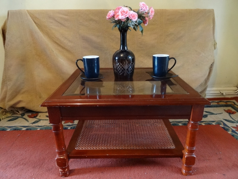 Brilliant Common Antique Glass Top Coffee Tables Within Vintage Spanish Mahogany Rustic Coffee Table Glass Topwicker (Image 8 of 50)