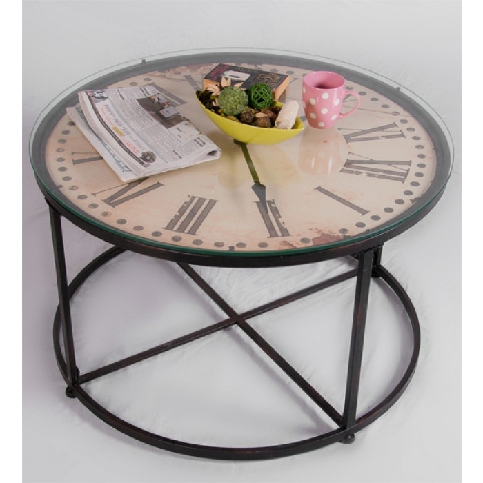 Brilliant Common Coffee Tables With Clock Top With Regard To Metal Wood Coffee Table Coffee Table Metal Legs Wood Top (Image 10 of 40)