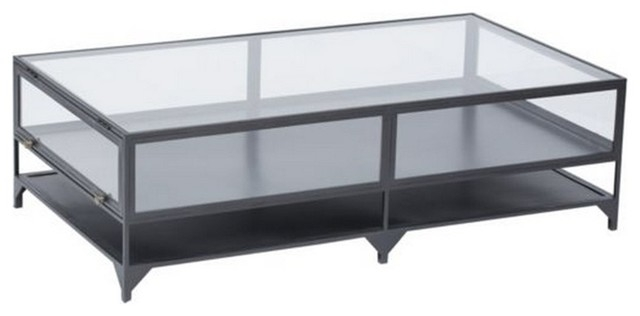 Brilliant Common Glass Metal Coffee Tables Regarding Gorgeous Metal Glass Coffee Table Modern Glass Metal Coffee Table (Image 15 of 50)