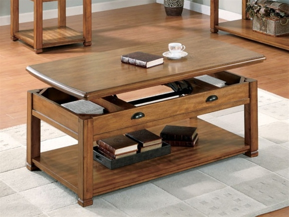 Brilliant Common Lift Top Coffee Tables In Lift Top Coffee Table In Oak Finish Coaster  (Image 8 of 50)