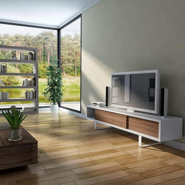 Brilliant Common Modern Low TV Stands Intended For Tv Stand Or Low Sideboard A Rounded Metal Foot Sliding Doors (View 28 of 50)