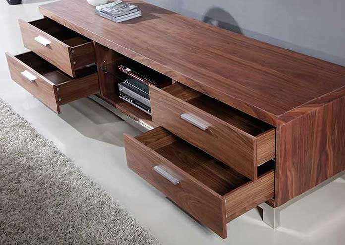 Brilliant Common Modern Walnut TV Stands Pertaining To Modern Walnut Tv Stand Bm3 Tv Stands (Image 7 of 50)