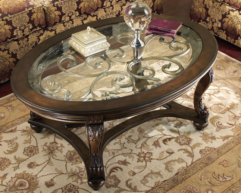 Brilliant Common Oval Glass And Wood Coffee Tables With Regard To Oval Wood Coffee Table (Image 10 of 50)