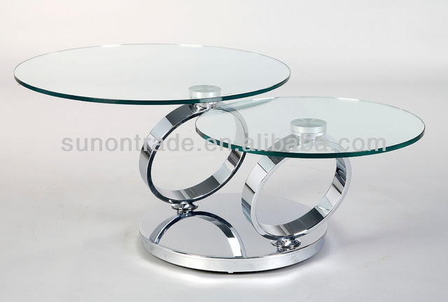 Brilliant Common Revolving Glass Coffee Tables With Regard To New Morden Revolving Glass Coffee Table Buy Rotating Glass (Image 4 of 40)