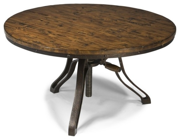 Brilliant Common Round Pine Coffee Tables With Living Room Top Coffee Table Metal And Wood Rustic Round Cocktail (Image 8 of 50)