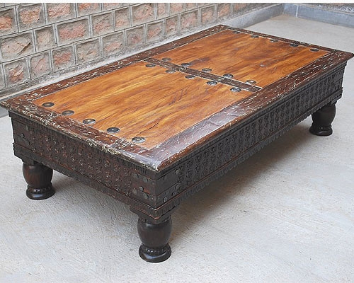 Brilliant Common Rustic Coffee Table With Wheels In Rustic Coffee Table Ideas (Image 10 of 50)