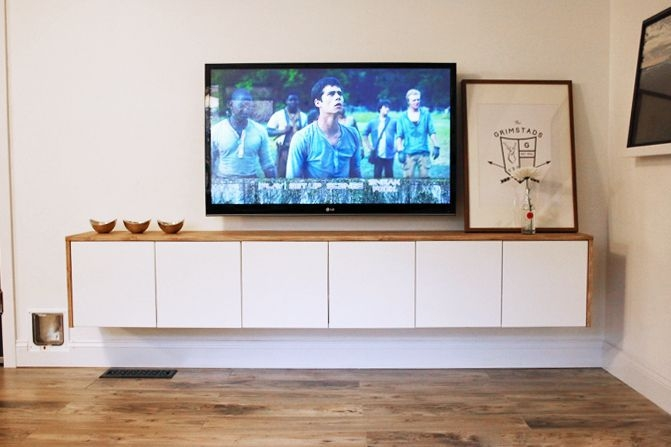 Brilliant Common TV Stands For Small Spaces In 5 Diy Tv Stands That Hide Ugly Cable Boxes And Wires (Image 10 of 50)