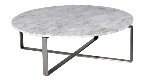 Brilliant Common White Marble Coffee Tables Intended For Fabulous Round Marble Top Coffee Table Caridad Round Marble Coffee (Image 9 of 50)