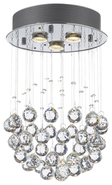 Brilliant Crystal Ball Chandelier Lighting Fixture Raindrop With Crystal Ball Chandeliers Lighting Fixtures (Image 3 of 25)