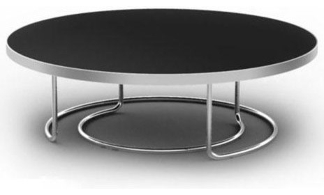 Brilliant Deluxe Black Circle Coffee Tables Regarding Round Black Coffee Table (View 5 of 50)