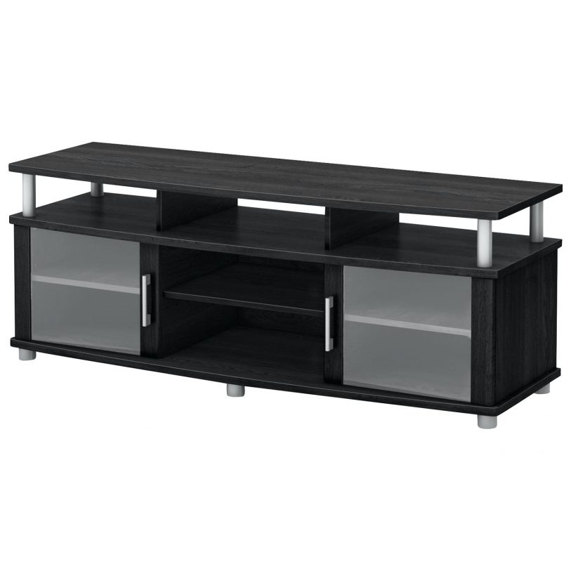 Brilliant Deluxe Black Oval TV Stands Intended For Swivel Tv Console Flideco (Image 9 of 50)