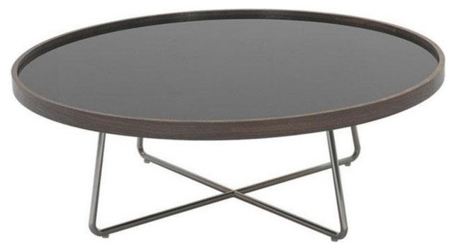Brilliant Deluxe Glass Circular Coffee Tables Intended For Coffee Table Round Black (Image 5 of 50)