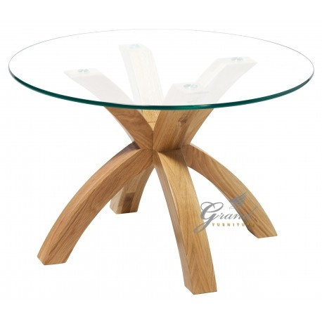 Brilliant Deluxe Glass Oak Coffee Tables Intended For Phoenix Solid Oak Coffee Table With Glass Top (Image 17 of 50)