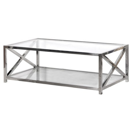Brilliant Deluxe Glass Steel Coffee Tables With Woodcocks Interiors Coffee Tables (Image 7 of 50)