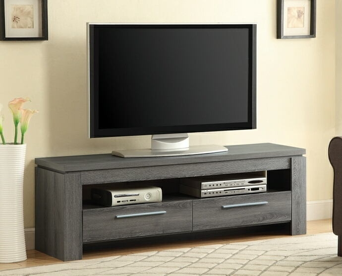 Brilliant Deluxe Grey TV Stands With Weathered Grey Finish Wood (Image 14 of 50)