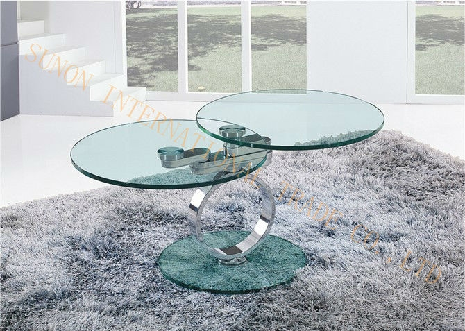 Brilliant Deluxe Revolving Glass Coffee Tables Intended For Rotating Square Glass Top Metal Base Coffee Table Buy Rotating (Image 5 of 40)