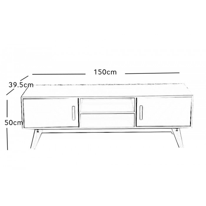 Brilliant Deluxe Scandinavian TV Stands With Regard To Scandinavian Tv Stand With Built In Storage (Image 8 of 50)