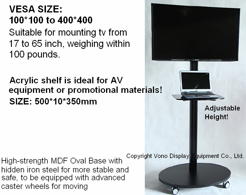 Brilliant Deluxe Single TV Stands With Regard To Products Vono Display (View 6 of 50)