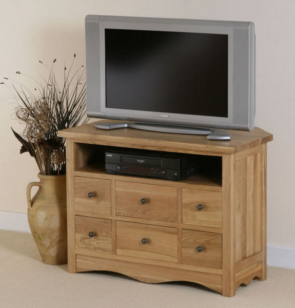 Brilliant Deluxe Small Oak Corner TV Stands Regarding Tv Stands 10 Outstanding Tall Corner Tv Stand Collection Extra (View 47 of 50)