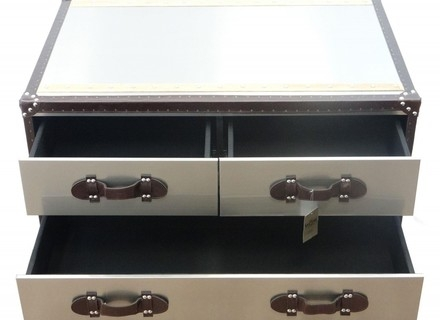 Brilliant Deluxe Steamer Trunk Stainless Steel Coffee Tables Intended For Coffee Table Coffee Table Steamer Trunk Stainless Steel Tree (Image 6 of 50)