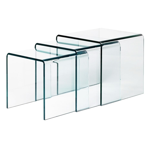 Brilliant Deluxe Transparent Glass Coffee Tables Inside Glas Italia Curvi Glass Coffee Or Side Table Studio Ea Stardust (Image 8 of 50)