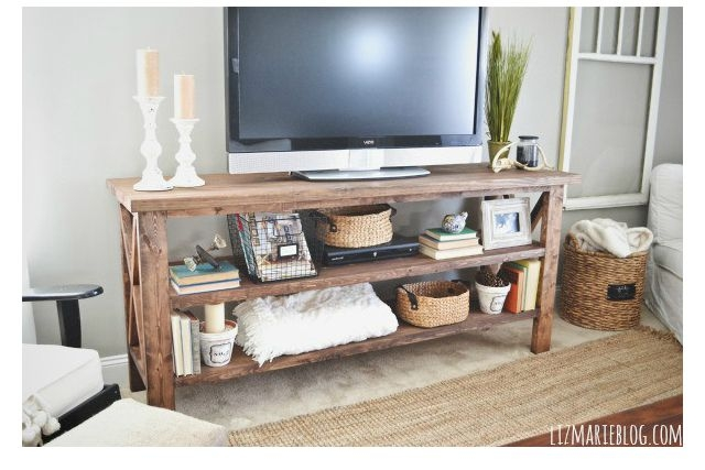 Brilliant Deluxe TV Stands For Small Spaces In 5 Diy Tv Stands That Hide Ugly Cable Boxes And Wires (Image 11 of 50)