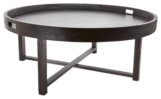 Brilliant Elite Black Circle Coffee Tables In Coffee Table Round Black (Image 7 of 50)