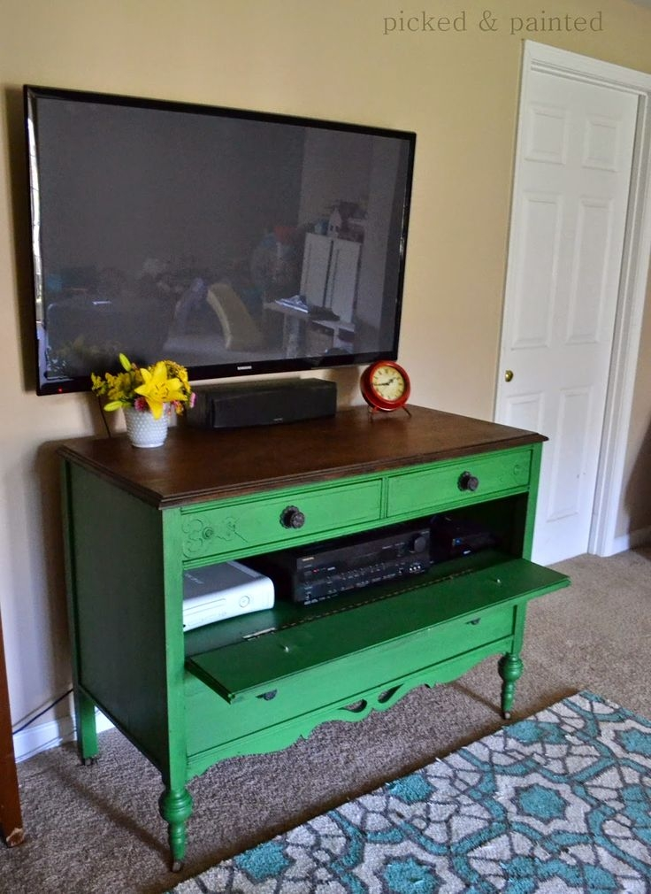 Brilliant Elite Green TV Stands Intended For Best 25 Dresser Tv Stand Ideas On Pinterest Furniture Redo Diy (Image 7 of 50)