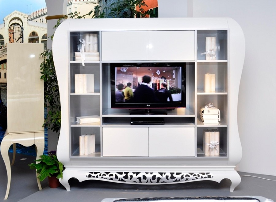 Brilliant Elite High Gloss White TV Cabinets With New York High Gloss Television Cabinet Luxury Tv Cabinet (View 50 of 50)