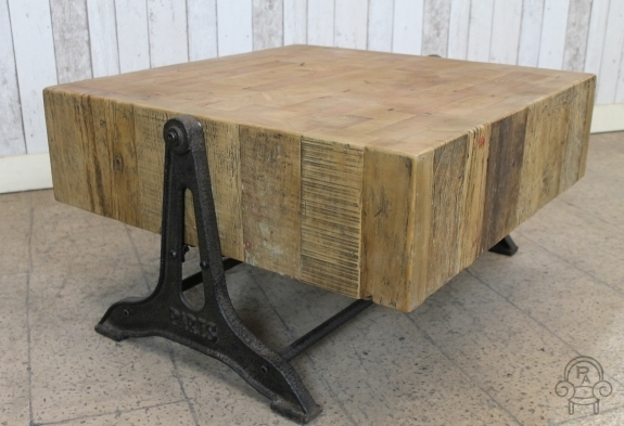 Brilliant Elite Industrial Style Coffee Tables Within Retro Industrial Style Coffee Table Reclaimed (Image 12 of 50)