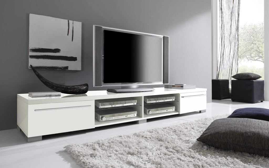 Brilliant Elite Long Low TV Stands In Tv Stands Black Color Modern Tv Stands For Flat Screens (Image 6 of 50)