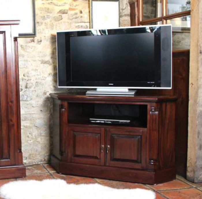 Brilliant Elite Mahogany Corner TV Stands With The Suitable Tv Corner Cabinets For Living Room Unique Room (Image 10 of 50)