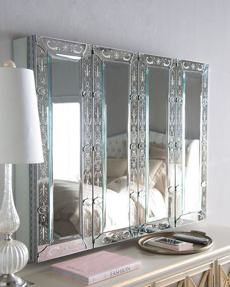 Brilliant Elite Mirrored TV Cabinets Regarding Venetian Style Mirrored Flat Screen Tv Wall Cabinet (Image 10 of 50)