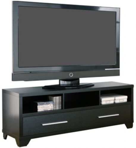 Brilliant Elite Modern Black TV Stands With Black Tv Stand Shelves Drawers Storage 60 Inch Wooden Media Unit (Image 11 of 50)