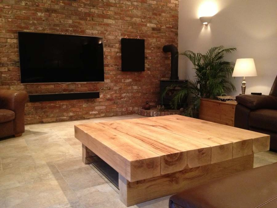Brilliant Elite Oak Coffee Table Sets Throughout Large Coffee Tables (Image 13 of 50)