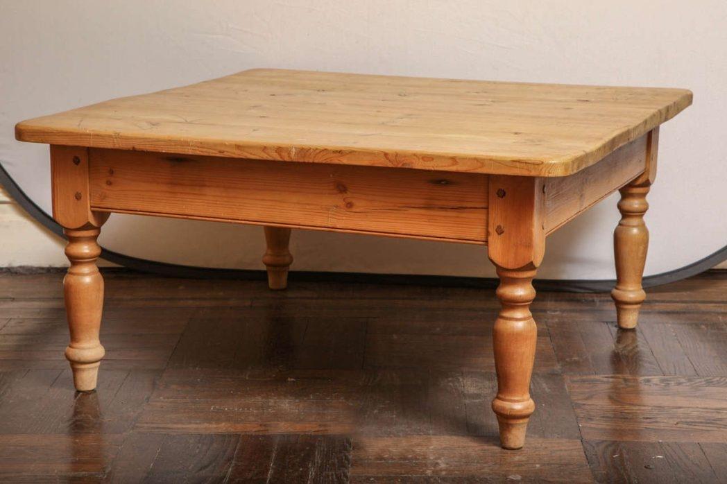 Brilliant Elite Square Pine Coffee Tables Regarding Pine Square Coffee Table Dark 6240 Thippo (Image 13 of 50)