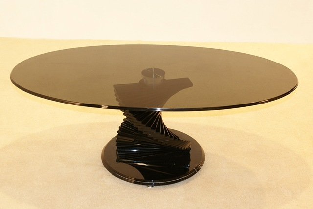 Brilliant Elite Swirl Glass Coffee Tables Pertaining To Black Coffee Tables Top Tuto (Image 14 of 50)