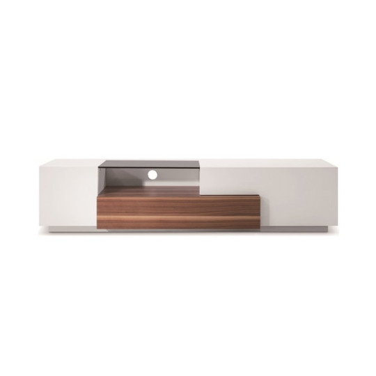 Brilliant Elite TV Stands White In White Lacquerwalnut Modern Tv015 Tv Stand Tv Stands White Houzz (View 47 of 50)