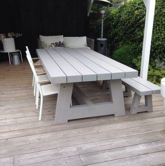 Brilliant Elite Wooden Garden Coffee Tables Within Best 25 Outdoor Tables Ideas On Pinterest Farm Style Dining (Image 7 of 50)