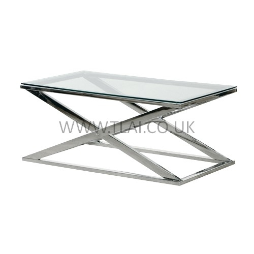 Brilliant Famous Chrome And Glass Coffee Tables Inside Glass And Chrome Coffee Table (Image 8 of 50)