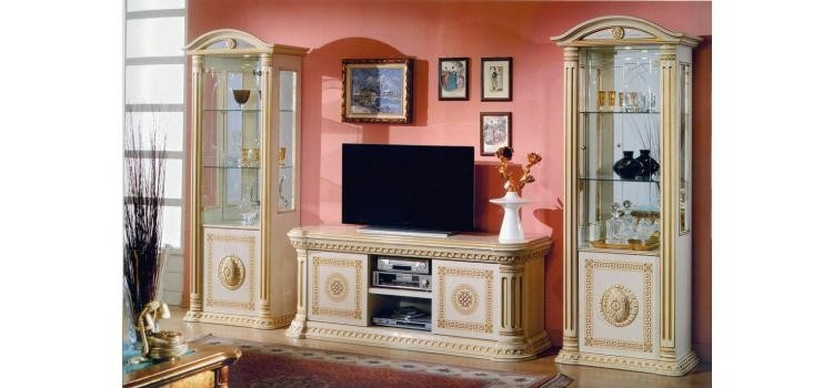 Brilliant Famous Classic TV Stands With Regard To Italian Classic Beige Tv Stand (Image 6 of 50)