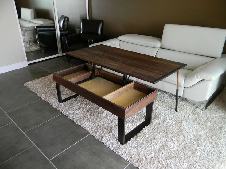 Brilliant Famous Coffee Table With Raised Top Intended For Coffee Table Beautiful Pop Up Coffee Table Pop Up Coffee Table (Image 10 of 50)