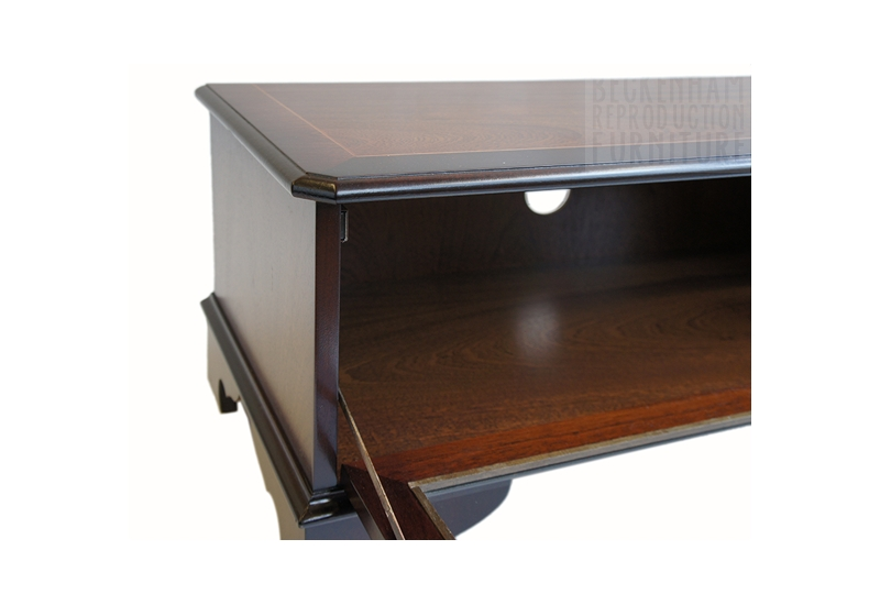 Brilliant Famous Glass Front TV Stands Within Glass Front Tvvideo Box Cabinet Mahogany Veneer Beckenham (Image 10 of 50)