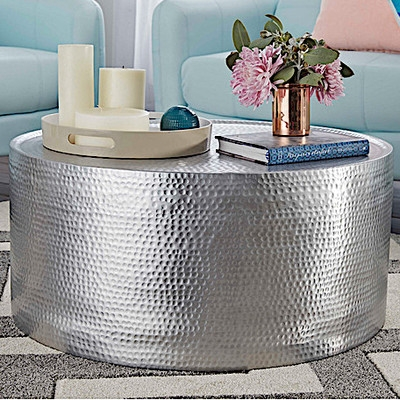 Brilliant Famous Hammered Silver Coffee Tables Intended For Hammered Coffee Table (Image 16 of 50)