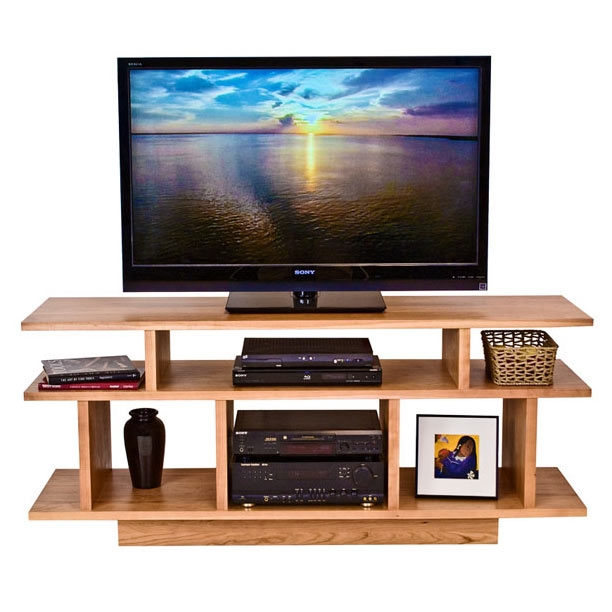 Brilliant Famous Hardwood TV Stands Intended For Contemporary Tv Stand Solid Wood Media Stands Vermont Made (Image 12 of 50)